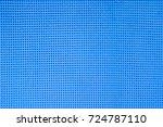 bright blue foam mat  floor... | Shutterstock . vector #724787110