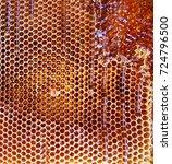 background hexagon texture  wax ... | Shutterstock . vector #724796500