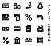 16 vector icon set   card  coin ... | Shutterstock .eps vector #724797343