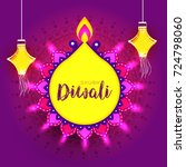 happy diwali   diwali wishes... | Shutterstock .eps vector #724798060