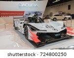 Small photo of Anaheim - USA - September 28, 2017: Acura ARX-05 DPI Race Car on display at the Orange County International Auto Show.