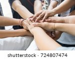 team work concept. business... | Shutterstock . vector #724807474