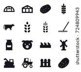 16 vector icon set   greenhouse ... | Shutterstock .eps vector #724809943