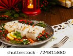 Christmas Fish. Roasted Cod...