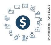 vector set of money line icons. | Shutterstock .eps vector #724816279