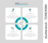 modern info graphic template... | Shutterstock .eps vector #724819084