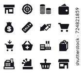 16 vector icon set   shop ... | Shutterstock .eps vector #724821859