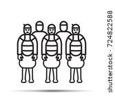 xian china terracotta warriors... | Shutterstock .eps vector #724822588