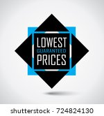lowest price special discount...   Shutterstock .eps vector #724824130