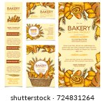 bakery products set  restaurant ... | Shutterstock .eps vector #724831264