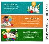 education banner back to school ... | Shutterstock .eps vector #724831270
