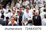 hasids pilgrims in traditional... | Shutterstock . vector #724833370