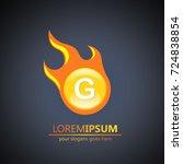 fireball letter g logo | Shutterstock .eps vector #724838854