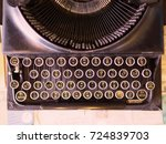 thai key board of antique and... | Shutterstock . vector #724839703