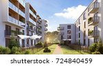 modern residential complex for... | Shutterstock . vector #724840459