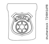 a badge  a police badge.... | Shutterstock .eps vector #724841698