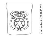 a badge  a police badge.... | Shutterstock .eps vector #724841698
