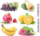 fresh fruit   Shutterstock . vector #724843216