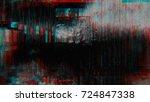 unique design abstract digital... | Shutterstock . vector #724847338