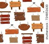 directory wooden signboard road ... | Shutterstock .eps vector #724852630