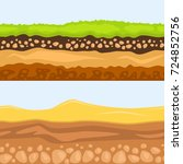 illustration of cross section... | Shutterstock .eps vector #724852756