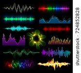 digital music equalizer audio... | Shutterstock .eps vector #724852828