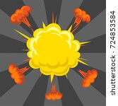 cartoon explosion boom effect...