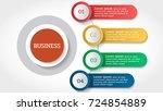 business data infographic 4... | Shutterstock .eps vector #724854889