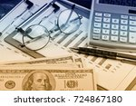 business accounting  | Shutterstock . vector #724867180