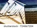 business accounting  | Shutterstock . vector #724867204