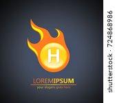 fireball letter h logo | Shutterstock .eps vector #724868986