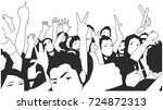 black and white illustration of ... | Shutterstock .eps vector #724872313