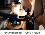coffee machine | Shutterstock . vector #724877026