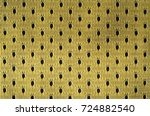 close up of yellow polyester... | Shutterstock . vector #724882540