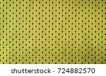 close up of yellow polyester... | Shutterstock . vector #724882570