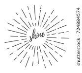 sun burst round decorative... | Shutterstock .eps vector #724884574