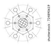 abstract technological element. ... | Shutterstock .eps vector #724890619