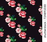 vintage peony bouquet vector... | Shutterstock .eps vector #724891030