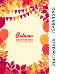 various autumn leaves  party... | Shutterstock .eps vector #724891390