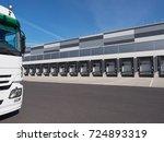 facade of an industrial... | Shutterstock . vector #724893319