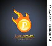 fireball letter p logo | Shutterstock .eps vector #724894438
