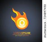 fireball letter o logo | Shutterstock .eps vector #724897450