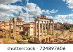 Panoramic Image Of Roman Forum...