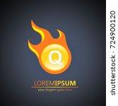 fireball letter q logo | Shutterstock .eps vector #724900120