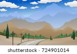 landscape with mountains and