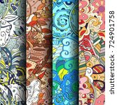 set of tracery colorful... | Shutterstock .eps vector #724901758