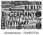 cities of german. hand drawn... | Shutterstock .eps vector #724907710