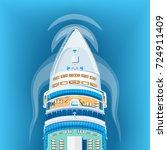 ship top view vector... | Shutterstock .eps vector #724911409