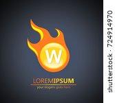 fireball letter w logo | Shutterstock .eps vector #724914970