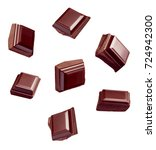 close up of chocolate pieces... | Shutterstock . vector #724942300